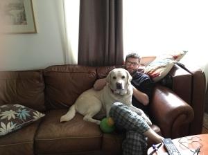 That's a big dog.